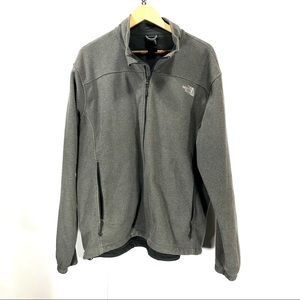 The north face fleece grey jacket size XL